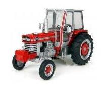 MF 1090 2WD with cab, rear metal wheels and driver; scale 1:32